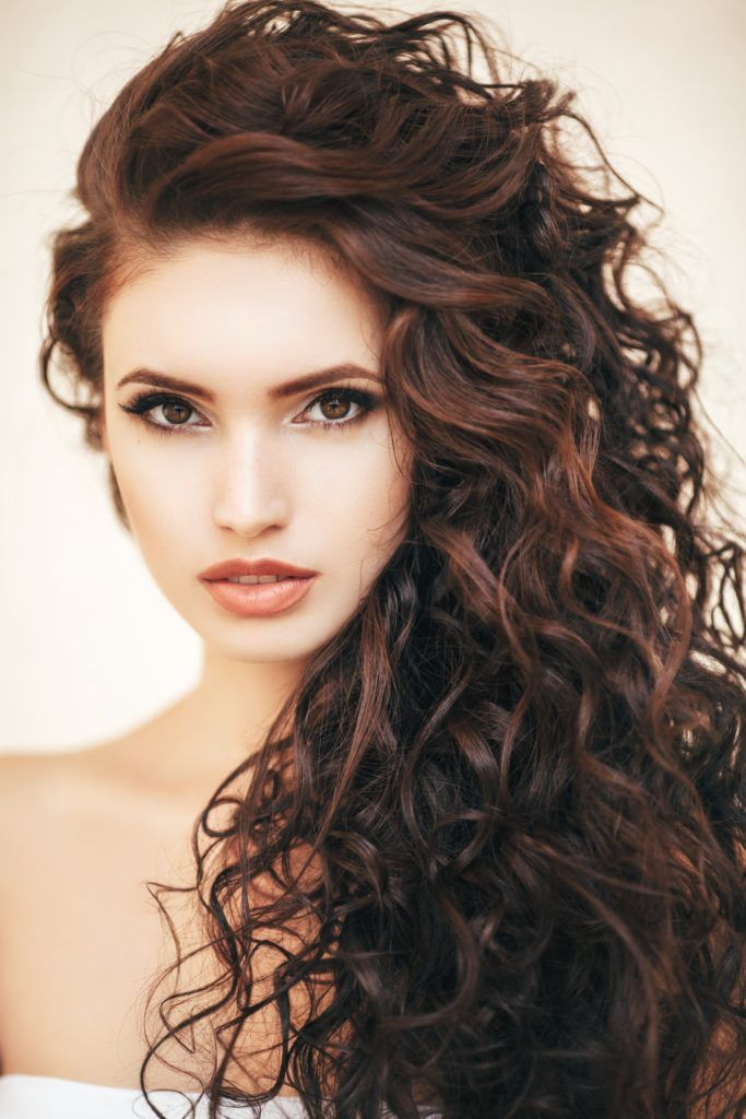 long hair with short layers red brown curls