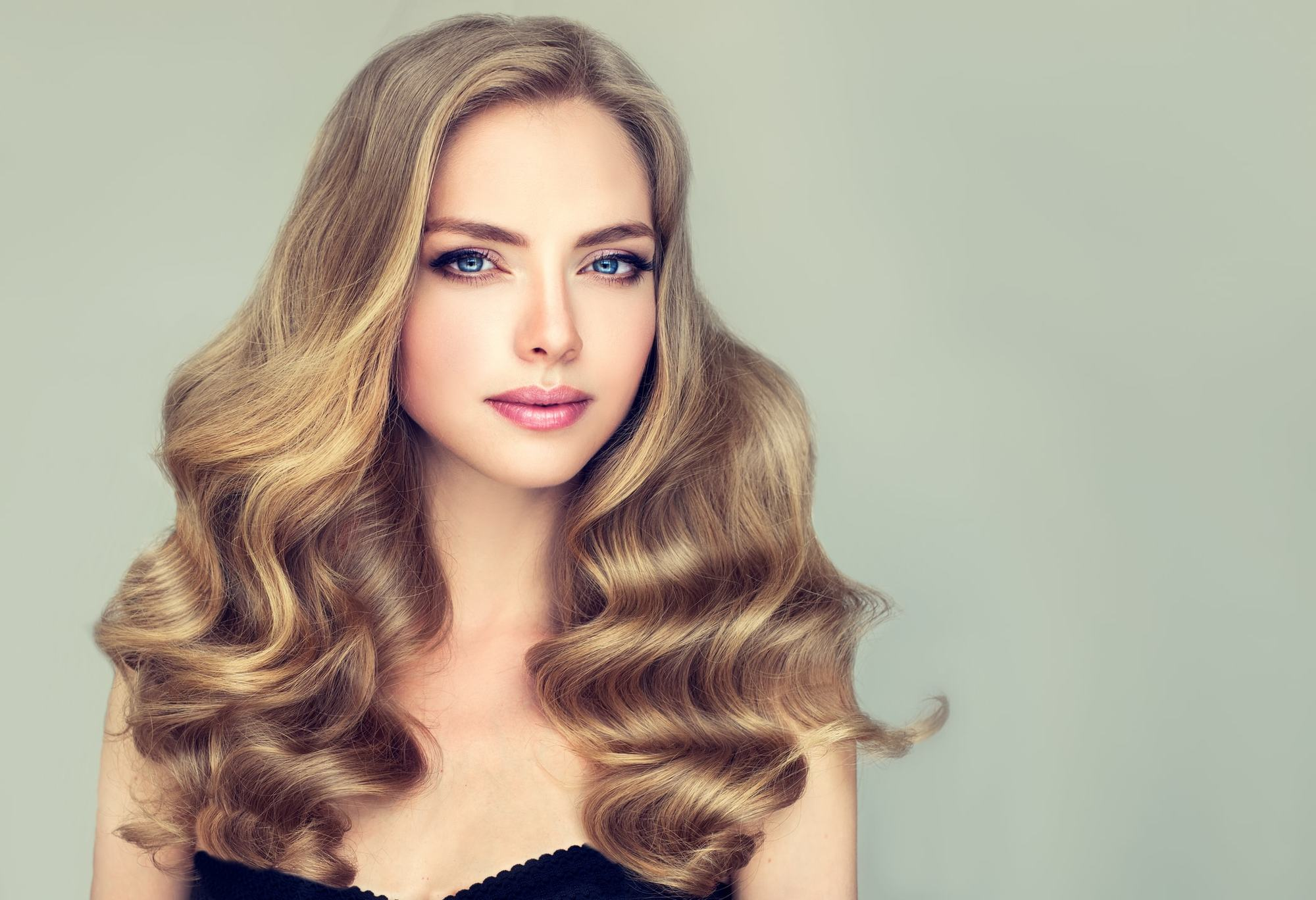 long hair with short layers soft blonde brushed