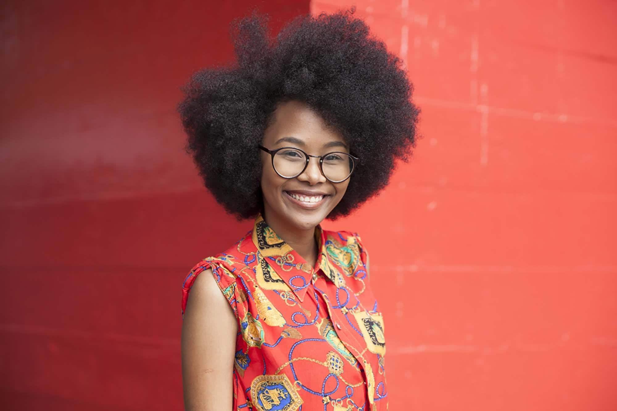 medium short hairstyles afro