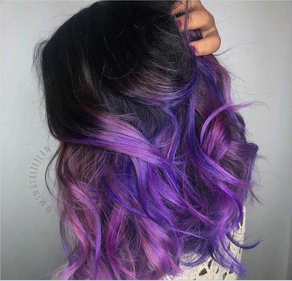 purple ombre hair metallic purple ombre