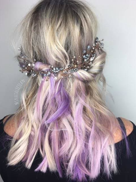 22 ways to style purple ombre hair. Black Bedroom Furniture Sets. Home Design Ideas