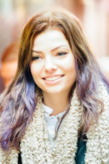 purple ombre hair purple ombre on medium brown hair