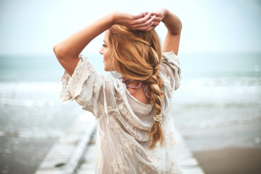 reverse ombre hair messy braid