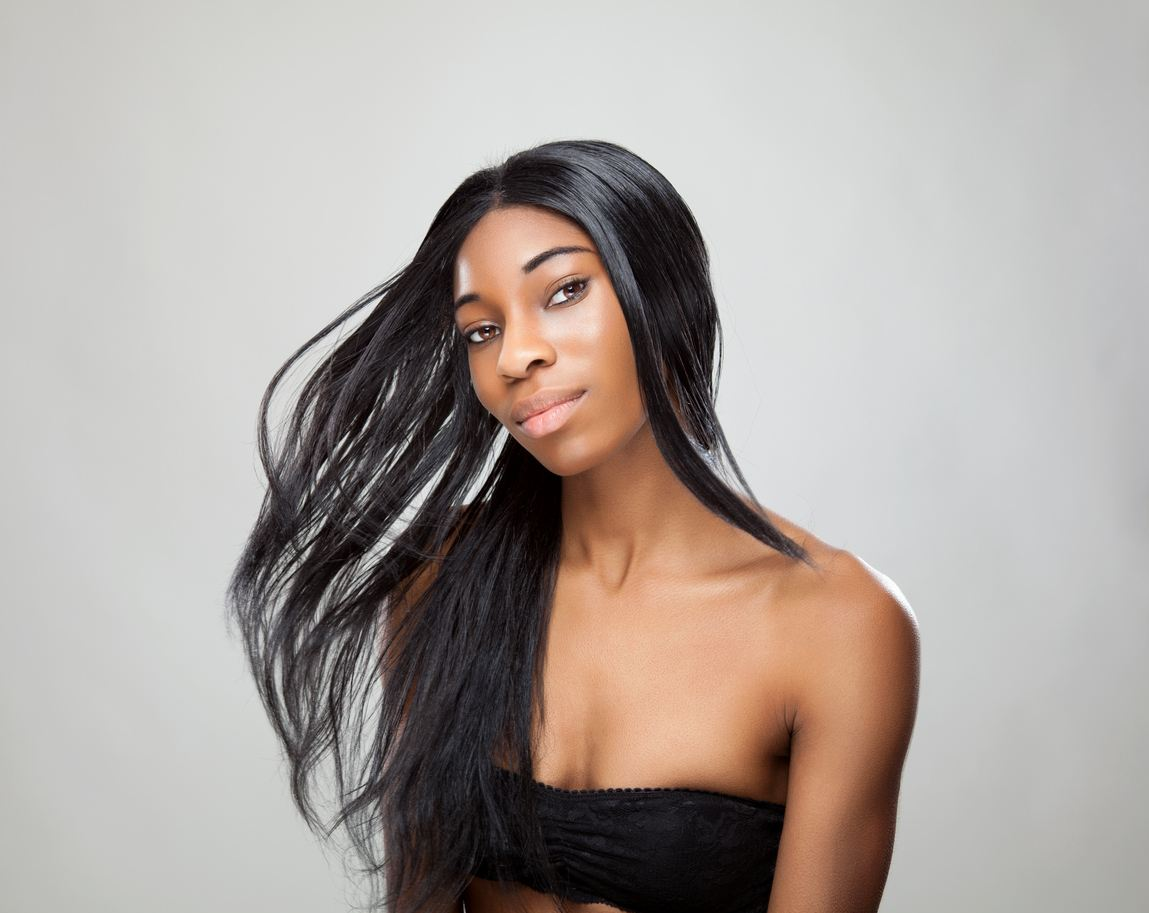 sew-in hairstyles: textured straight hair