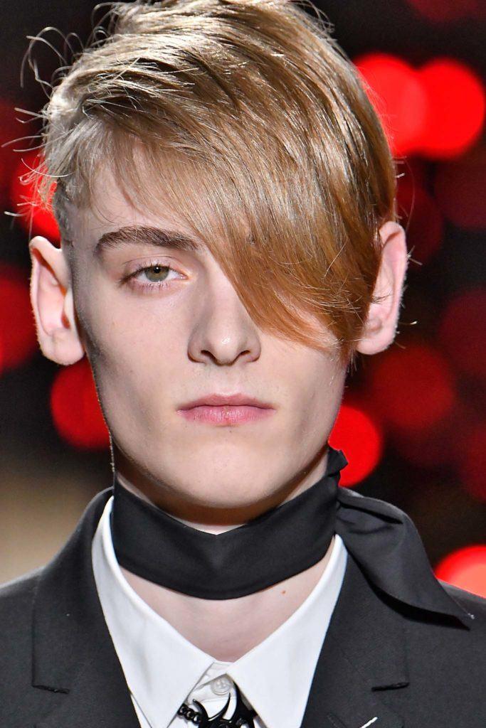 short back and sides haircut: long fringe
