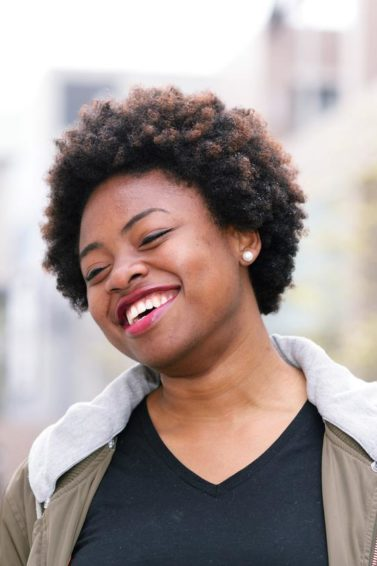 short cropped hairstyles: Afro