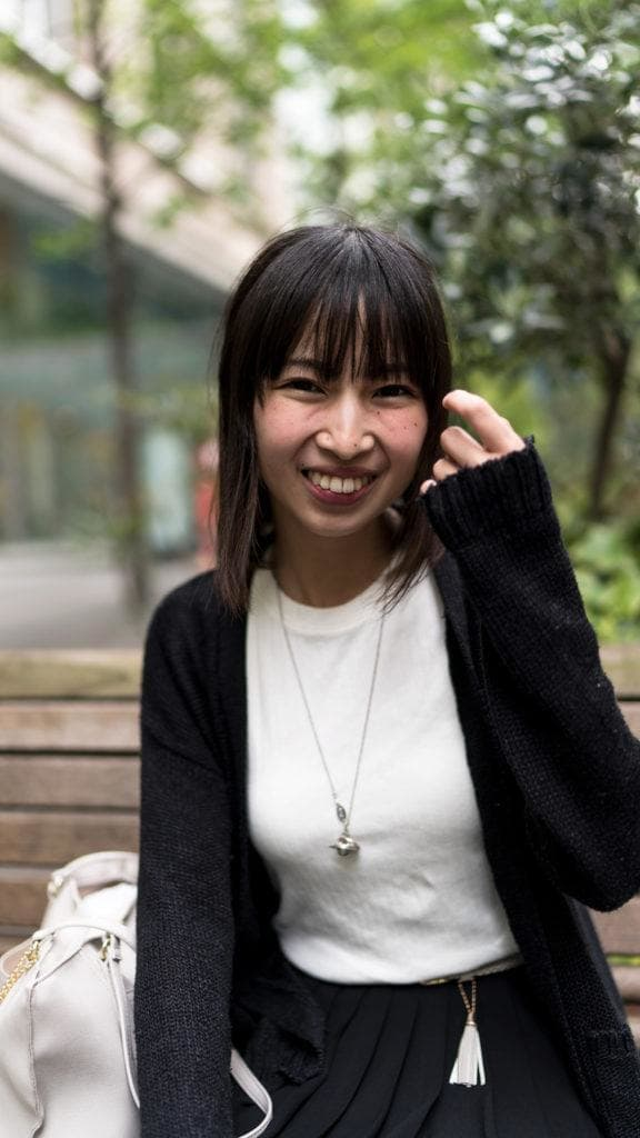 thinning hair: asian woman with black thin hair type
