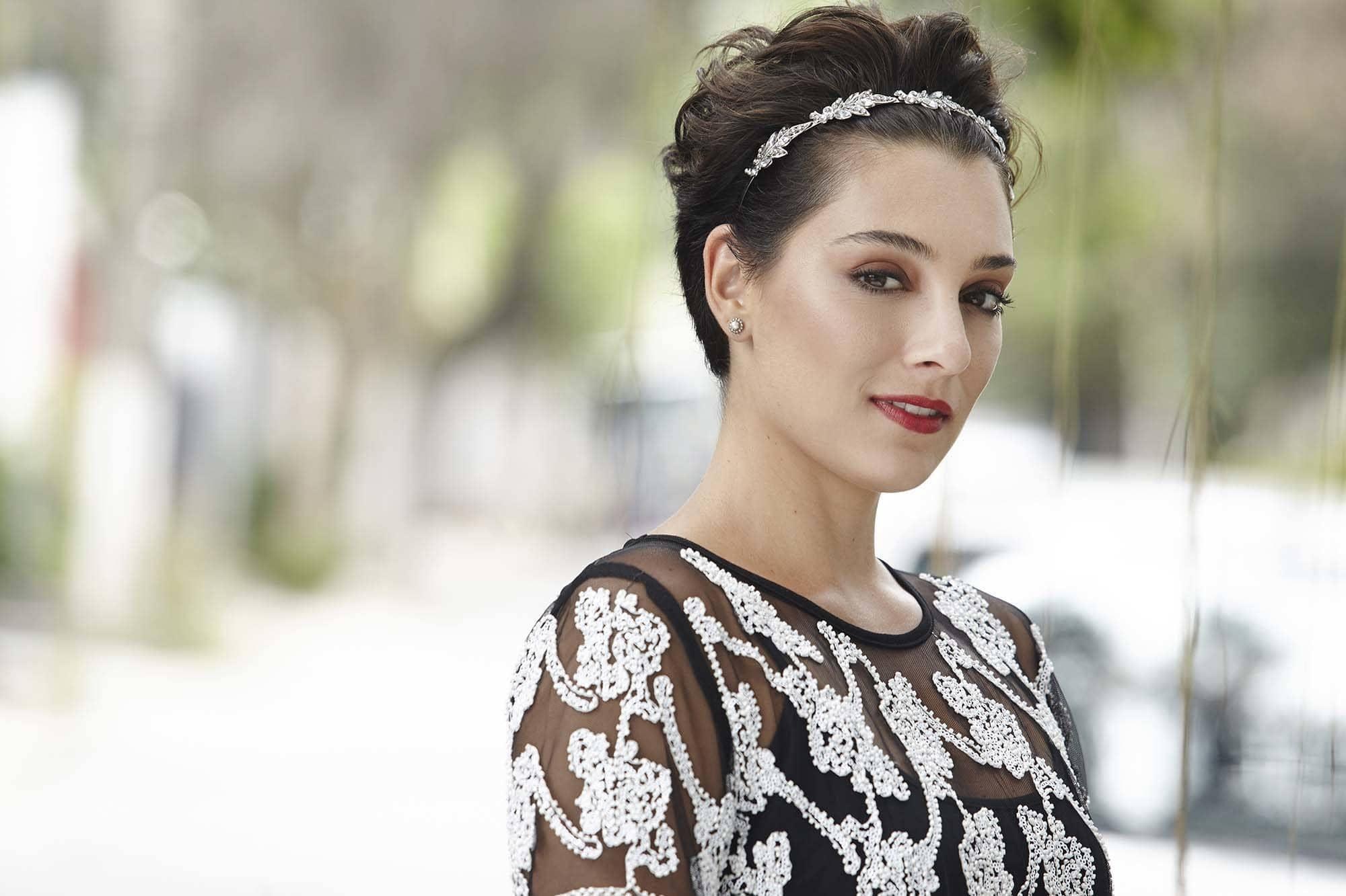 elegant hairstyles for short hair jeweled headband