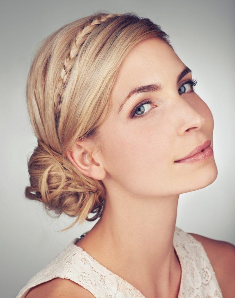 elegant hairstyles for short hair thin crown braid