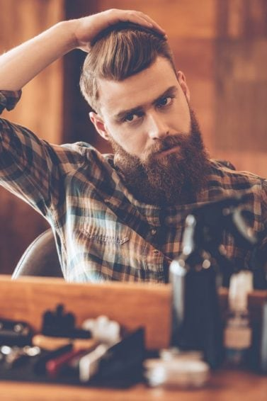 hair styling products for men brunette full beard