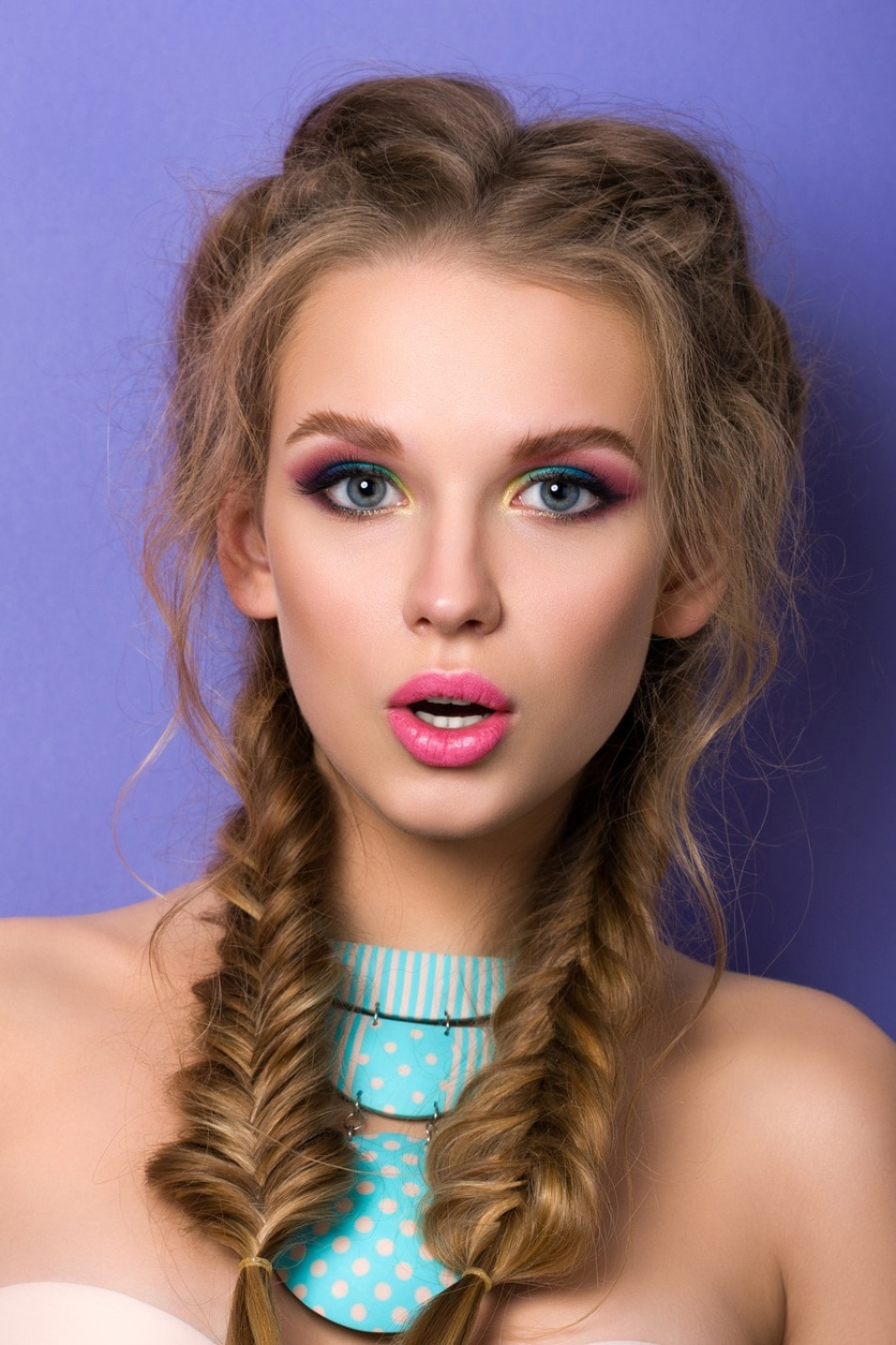 braided hairstyles double fishtail