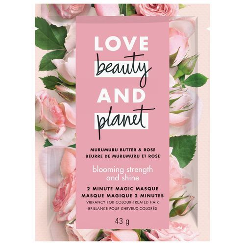 LOVE BEAUTY AND PLANET BLOOMING COLOR MURUMURU BUTTER & ROSE 2-MINUTE MAGIC MASQUE
