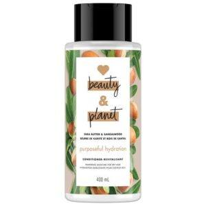 love beauty and planet purposeful hydration shea butter & sandalwood conditioner