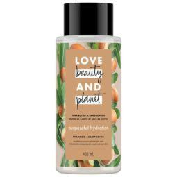 love beauty and planet purposeful hydration shea butter & sandalwood shampoo