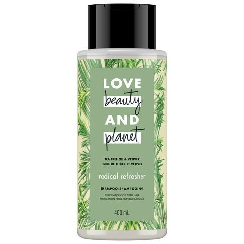 LOVE BEAUTY AND PLANET RADICAL REFRESHER TEA TREE OIL & VETIVER SHAMPOO