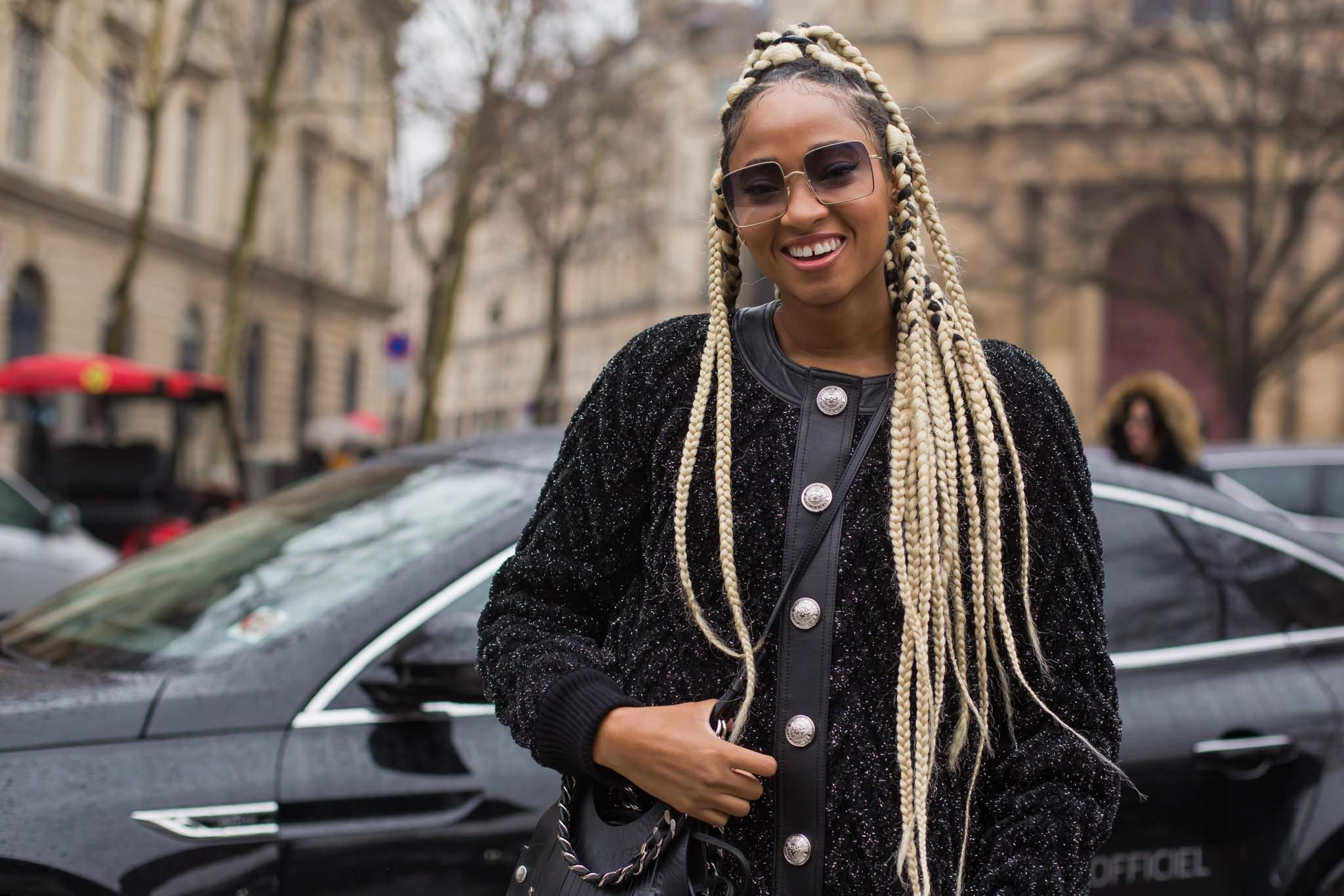 90s box braids: blonde
