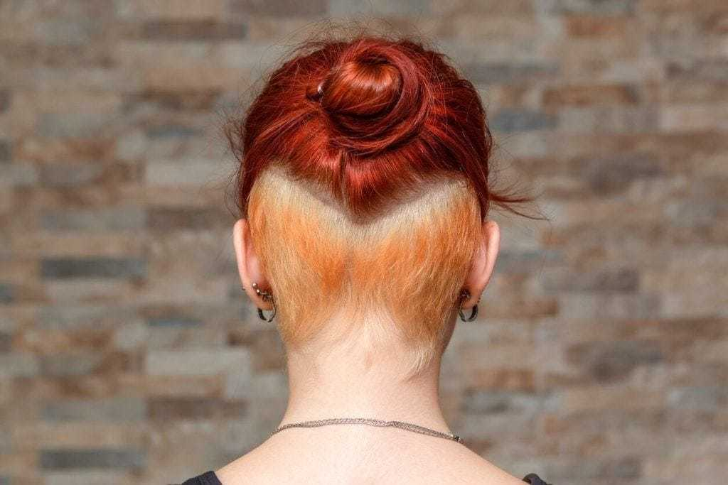 bob updos: tight bun