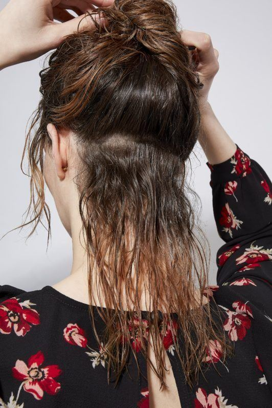 how to blow dry hair straight sections hair