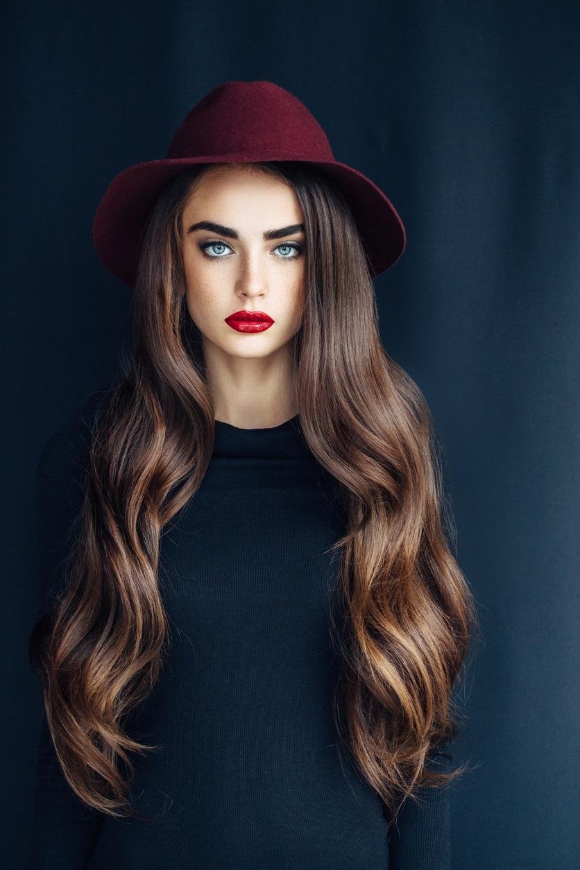 long wavy hairstyles glossy