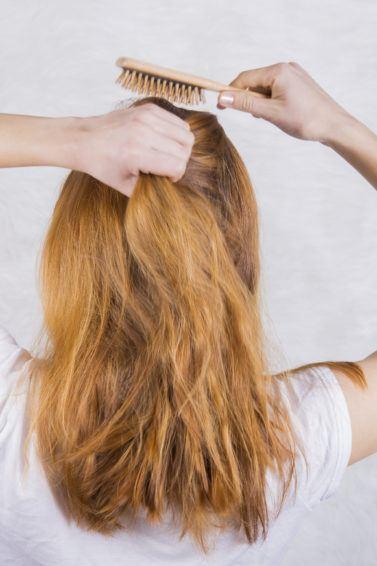 detangling thick hair