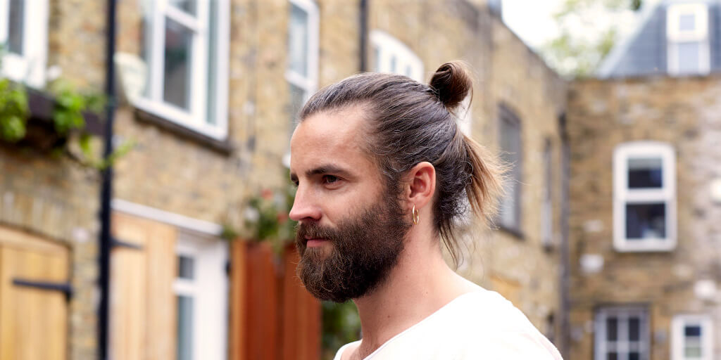 top knot men: half loop