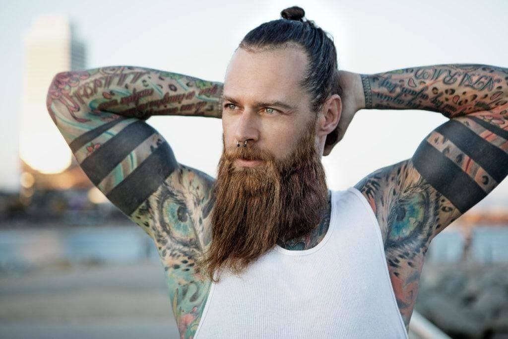 top knot men: min bun