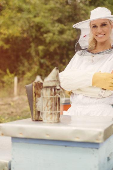 World bee day: beekeeper