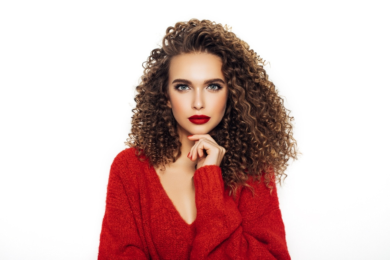 Hair plopping less static = more defined curls