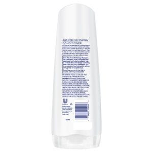 dove anti frizz oil conditioner rear view