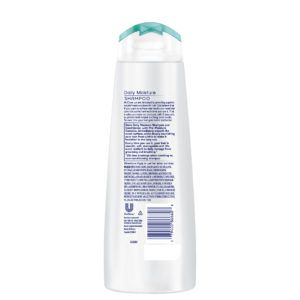 dove daily moisture shampoo rear view