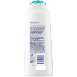dove daily moisture shampoo 20oz rear view