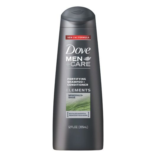 DOVE MEN+CARE ELEMENTS MINERALS + SAGE FORTIFYING 2-in-1 SHAMPOO AND CONDITIONER
