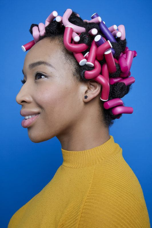 flexi rods on natural hair: full set