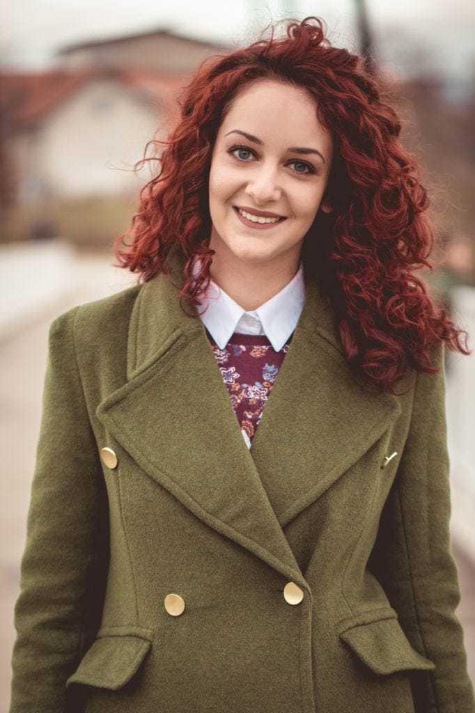 autumnal hair hues: burgundy