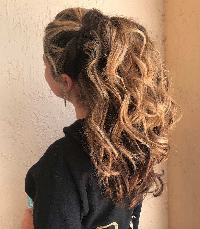 fall wedding hairstyles glam ponytail
