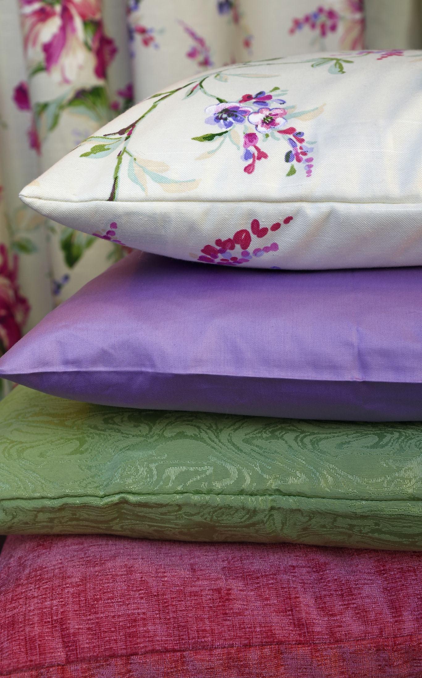 silk pillowcases pillows piled