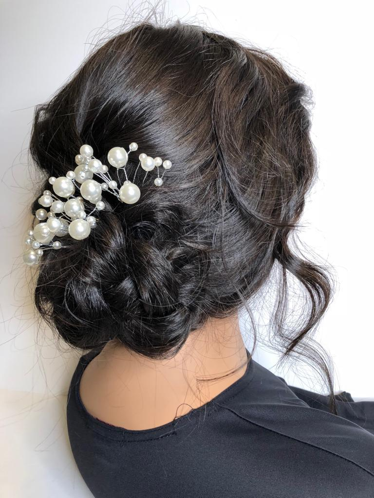five minute updo side view