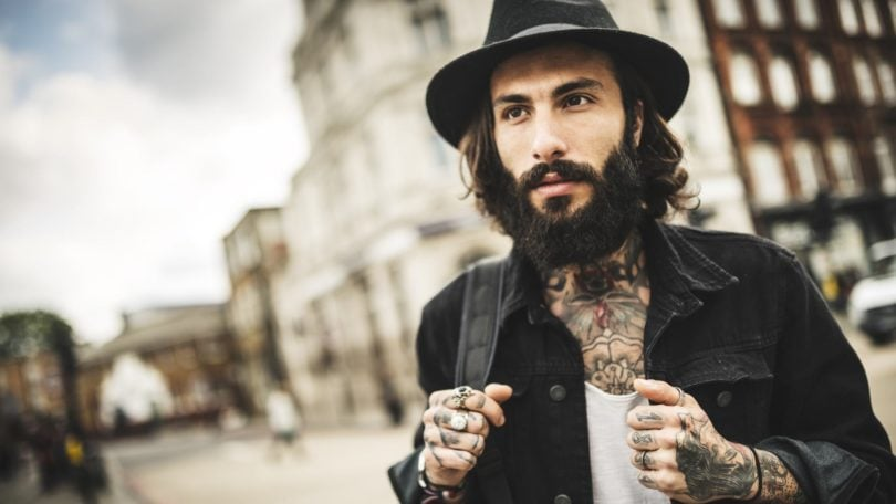 grooming lessons for men long hair hat