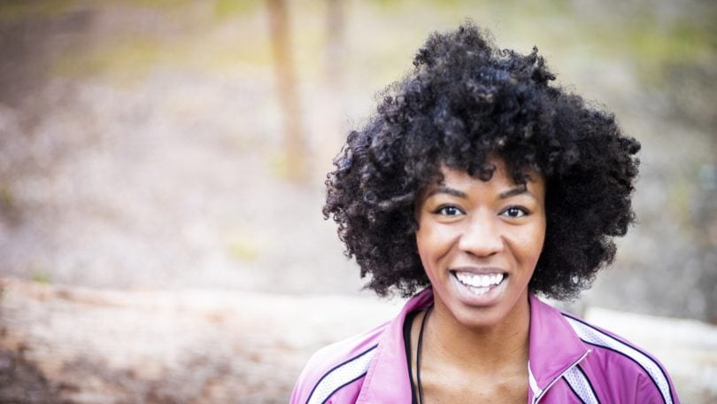 exercising with natural hair