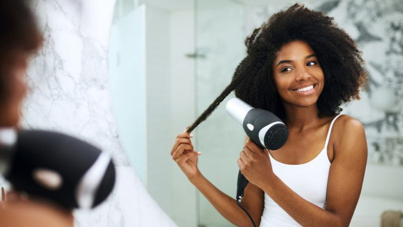 heat styling tips: blowdry hair