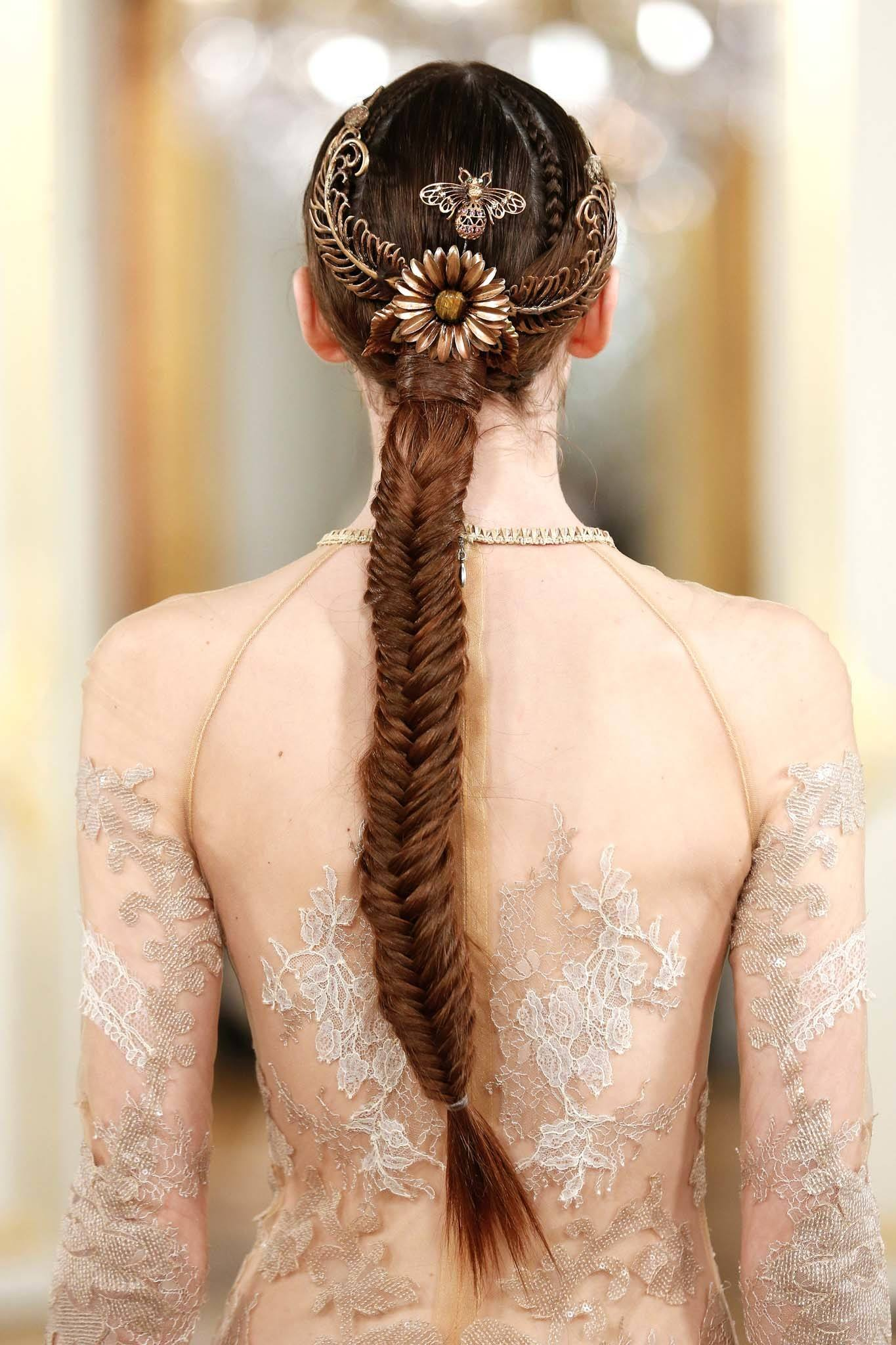 chunky fishtail braid: long braid
