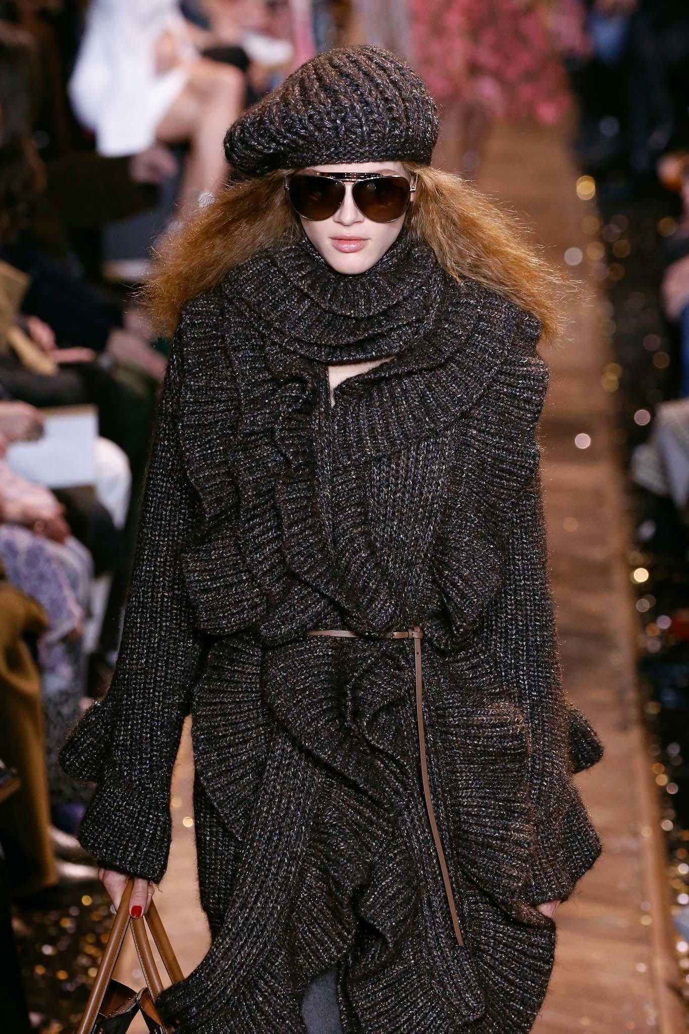 winter hair accessories from the runway oversized knit beanie