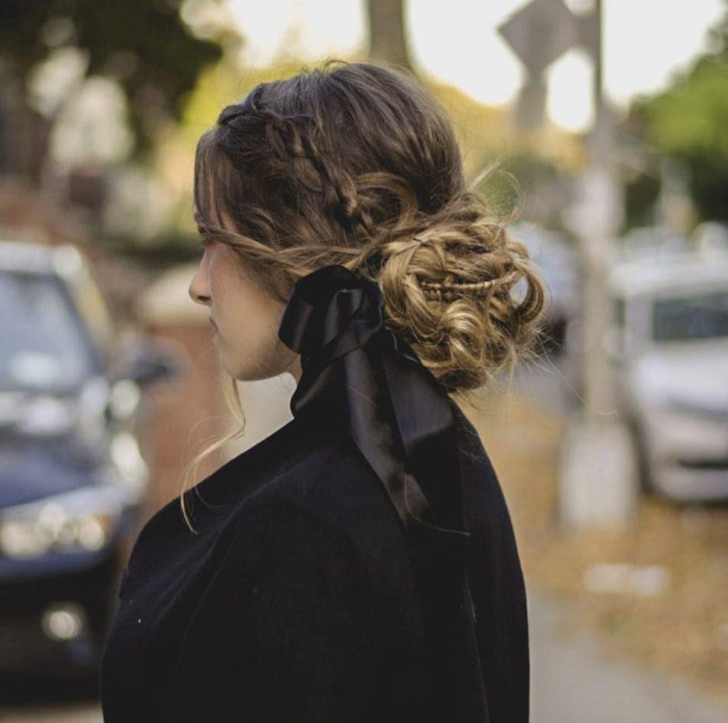 hair bow hair by sarale highlights hair braids bow updo