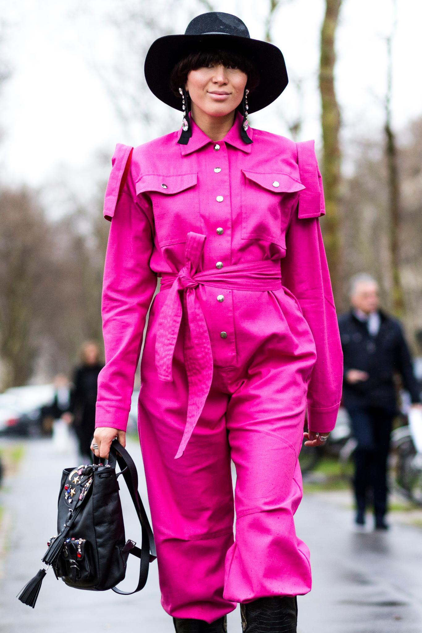 style your hair with hot pink outfits: bowl cut