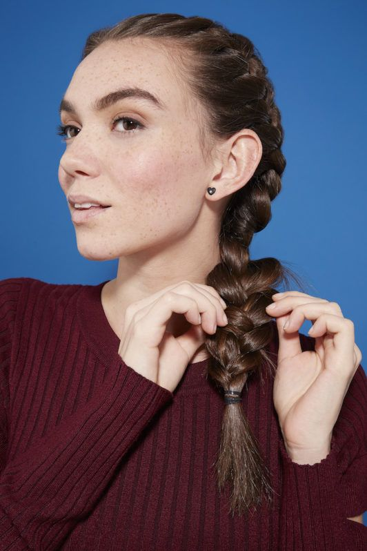 how to do a side french braid: pancake
