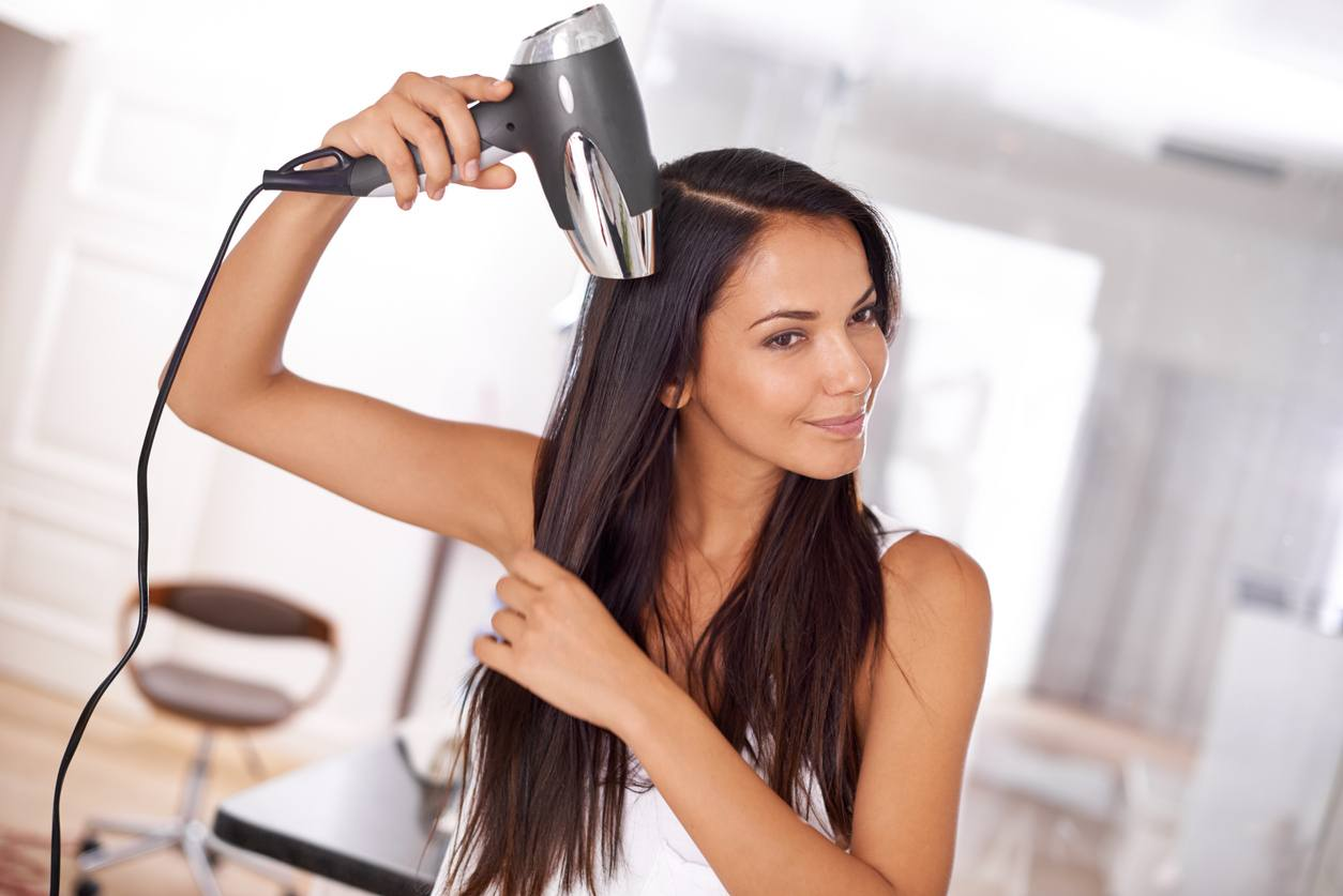 wash your hair more than once a week blow dry