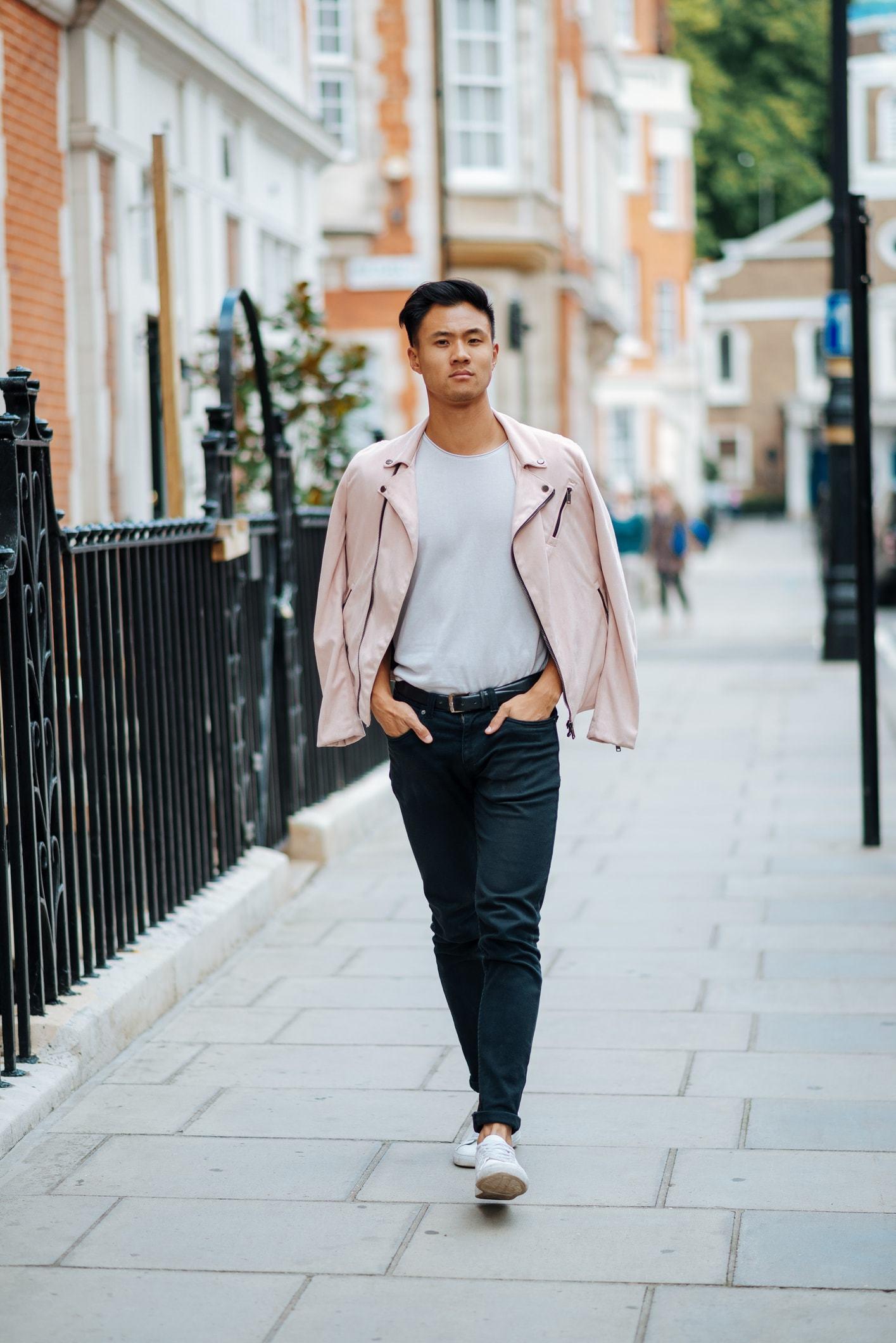 style for guys dark hair fade long top
