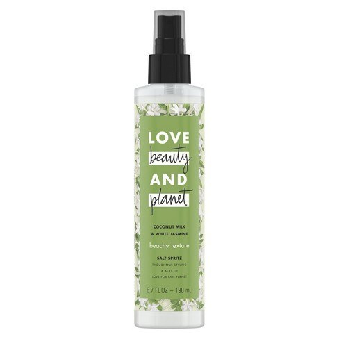 LOVE BEAUTY PLANET COCONUT MILK & WHITE JASMINE SALT SPRITZ TEXTURE SPRAY