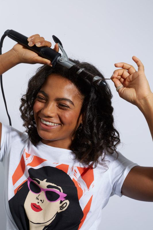 how to curl natural hair step 4