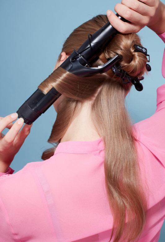 how to create big curls: curling iron